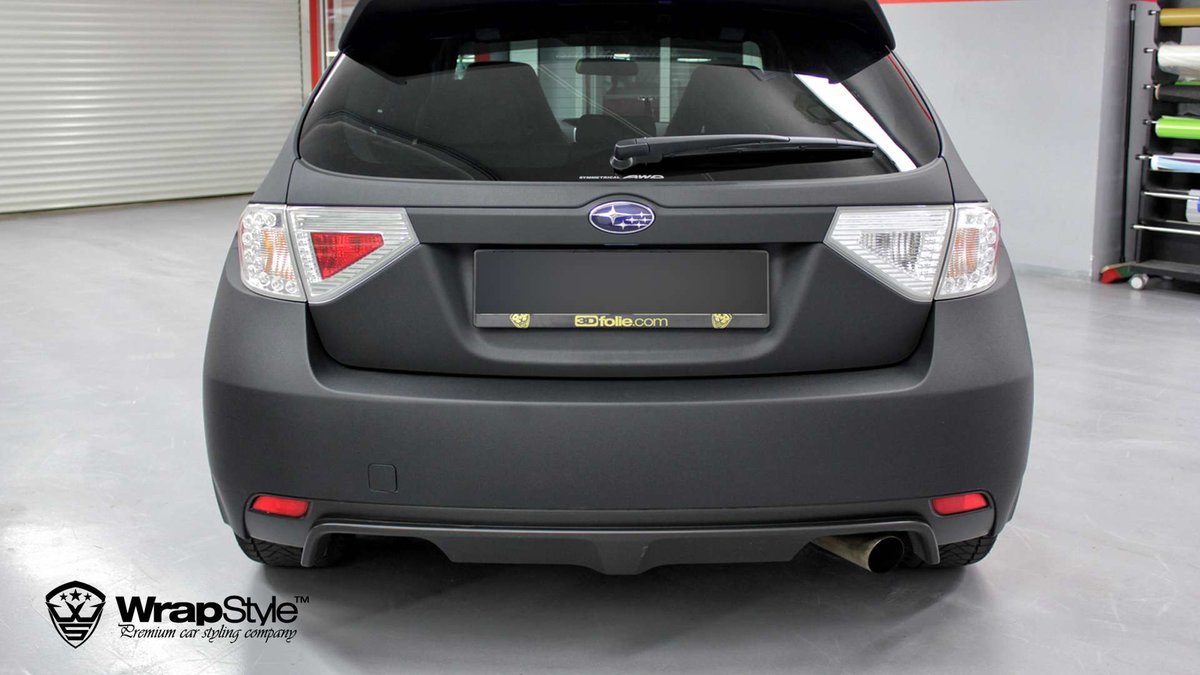 Subaru STI - Black Matt wrap - cover