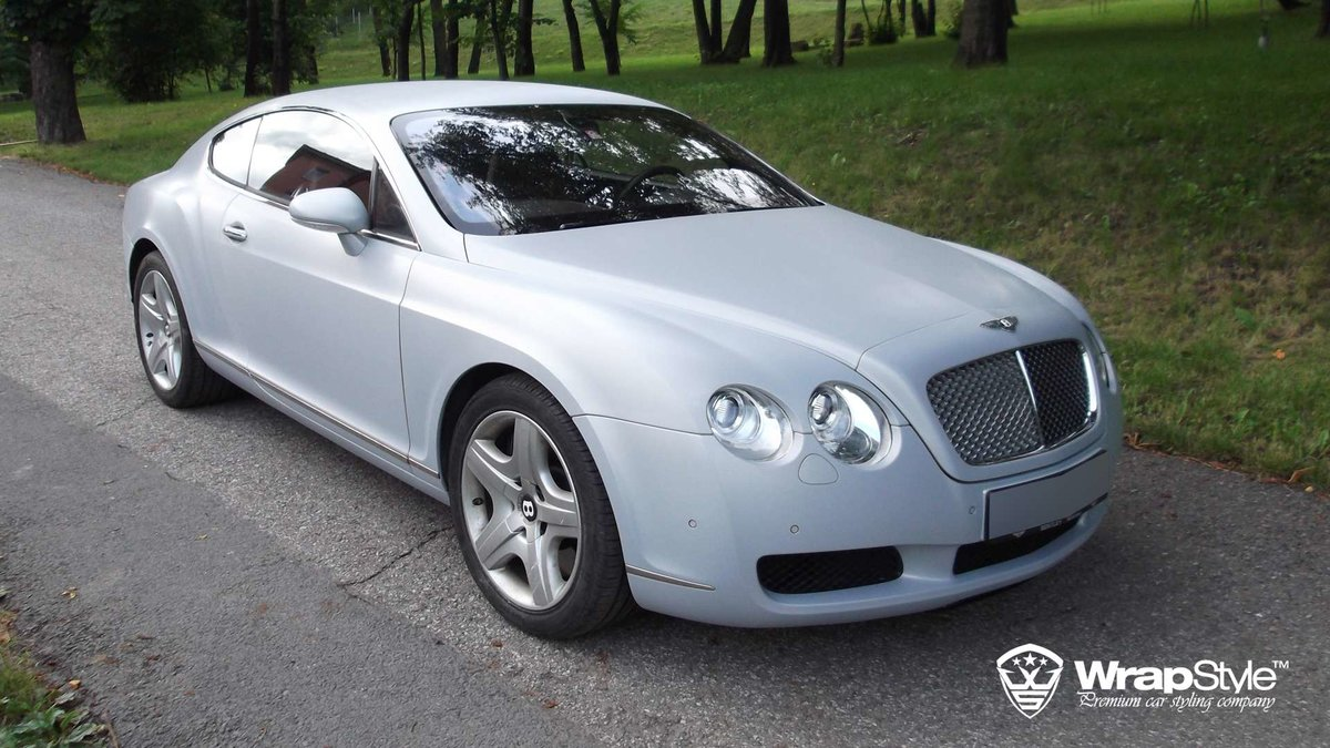 Bentley Continental - Brushed Aluminium wrap - cover