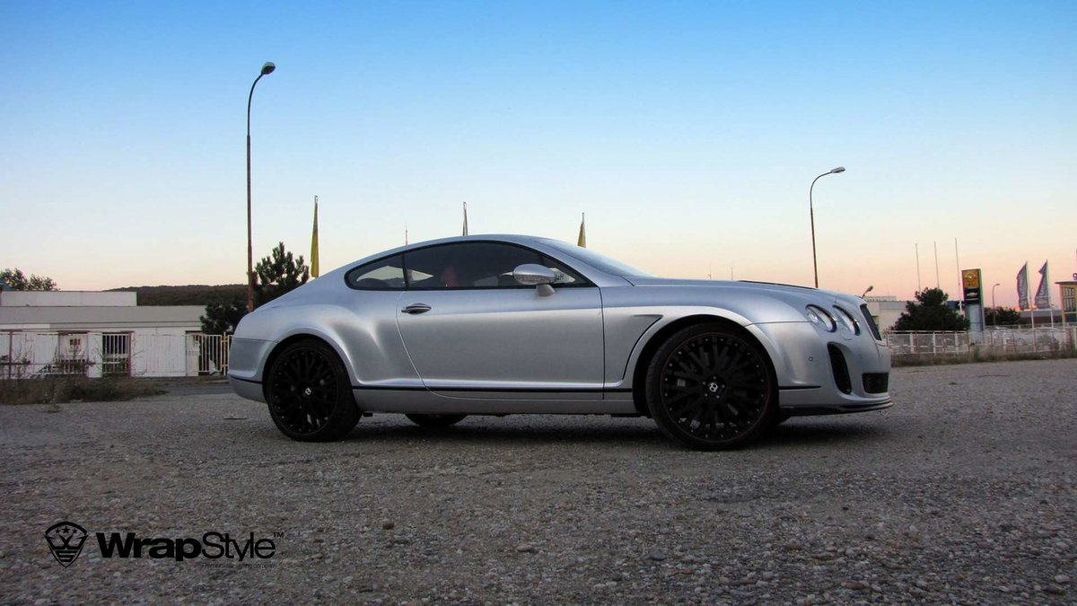 Bentley Continental - Silver Chrome Carbon wrap - cover