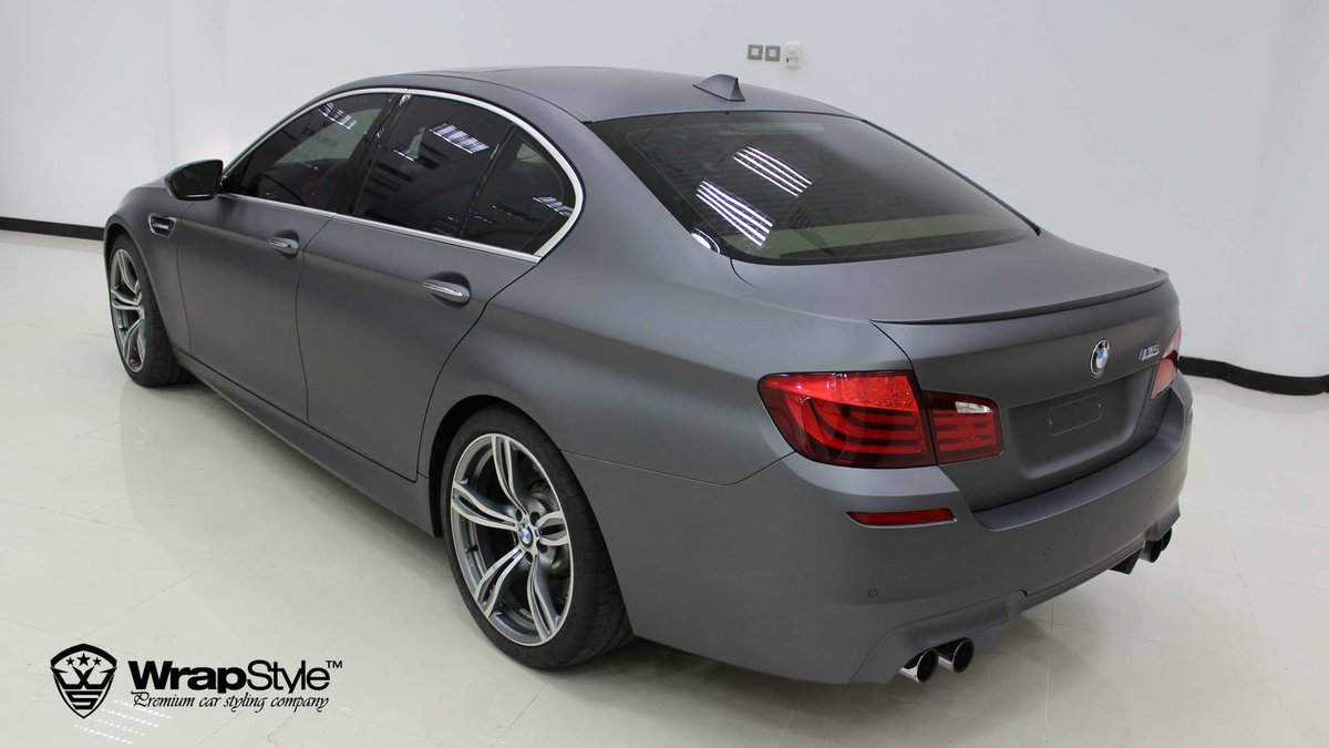 BMW M5 - Grey Matt wrap - cover