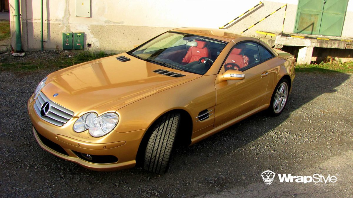 Mercedes SL - Gold Gloss wrap - cover
