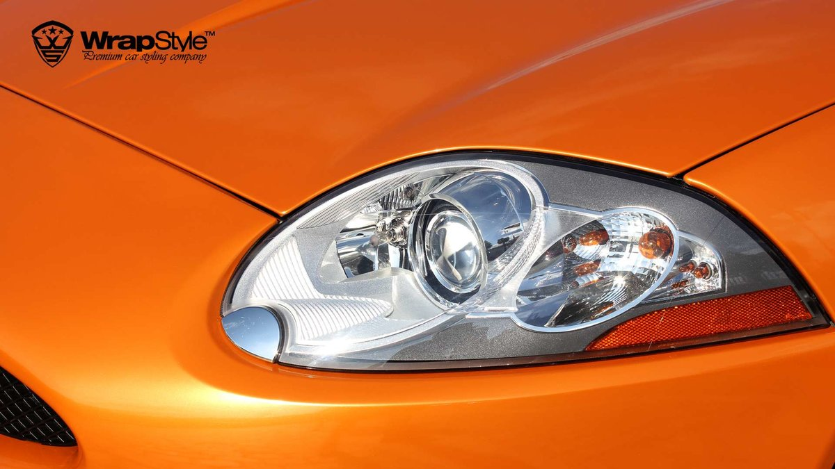 Jaguar F Type - Orange Metallic wrap - cover