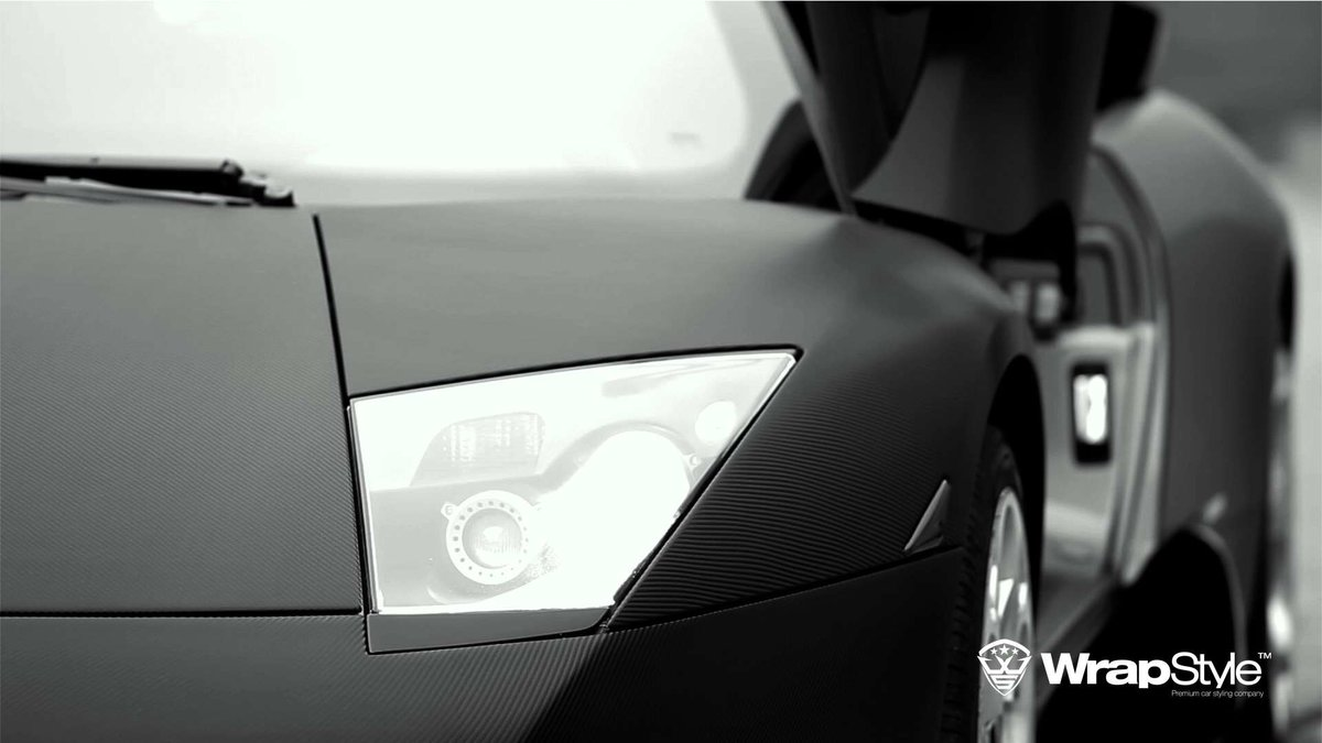 Lambo Murcielago - Black Carbon wrap - cover