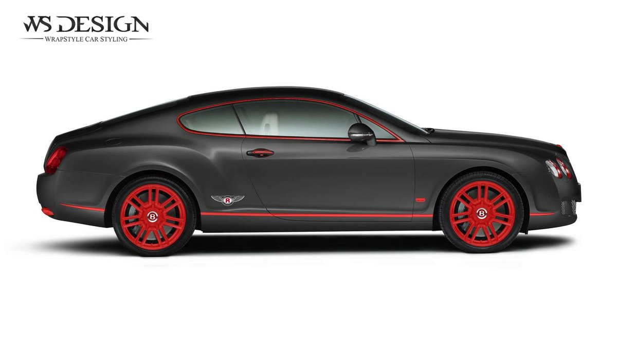 Bentley Continental - Black Red design - cover