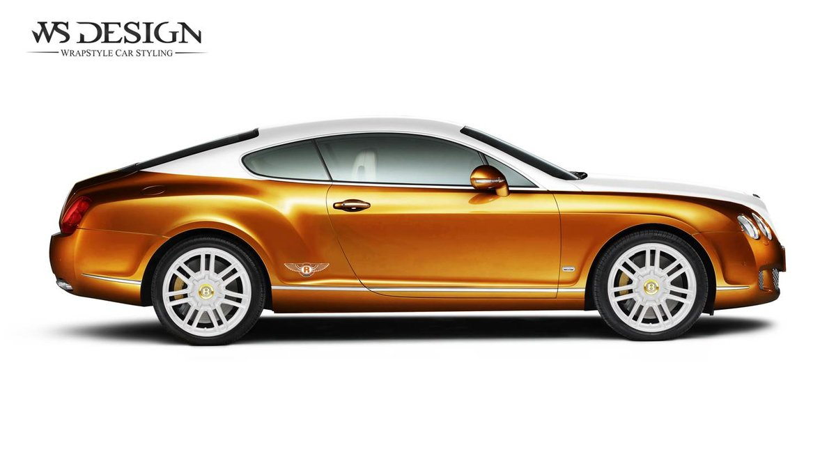 Bentley Continental gold white - cover