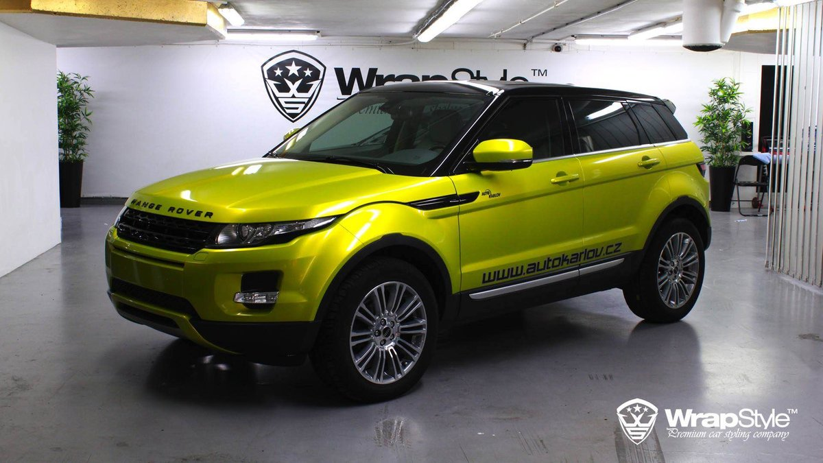 Range Rover Evoque - Lime Green wrap - cover