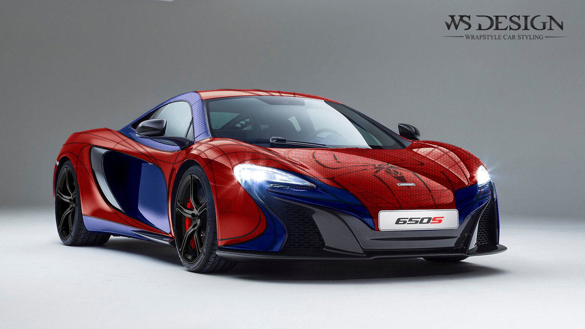 McLaren 650 - Spider Man design - cover