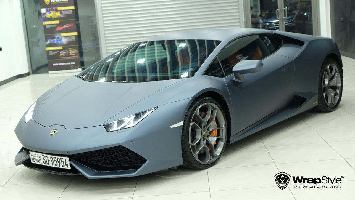 Lamborghini Huracan - Dark Blue Metallic wrap - cover