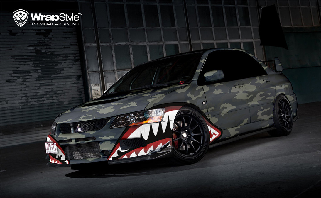 Mitsubishi Lancer - Camo design - cover