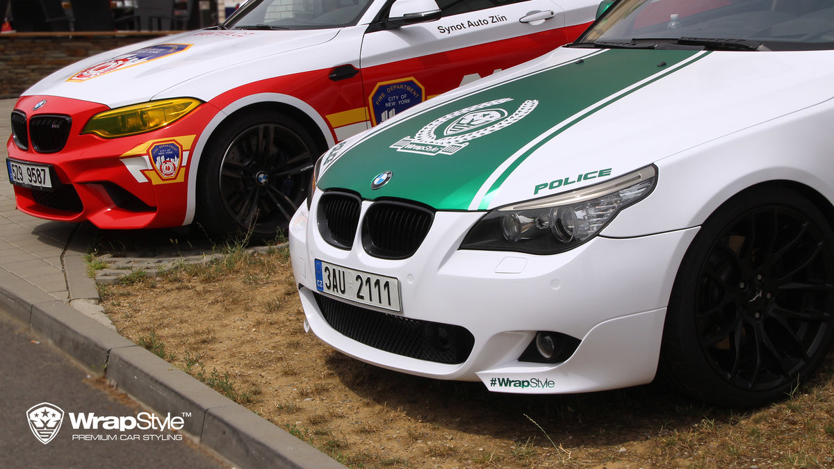 BMW M2 and BMW 5 - Fire department and Dubai police design - cover