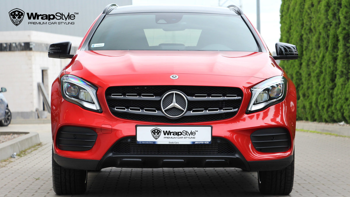 Mercedes GLA - Fire Red wrap - cover