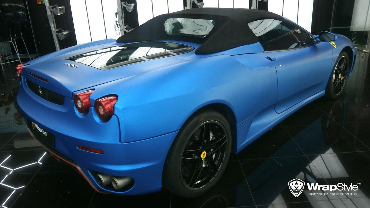 Ferrari F430 - Blue Matt Metalic wrap - img 1