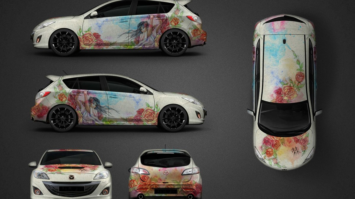 Mazda 3 - Rose Warrior design - cover