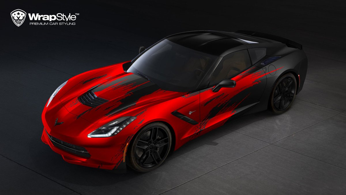Chevrolet Corvette C7 Stingray - Brush Stripes design - cover