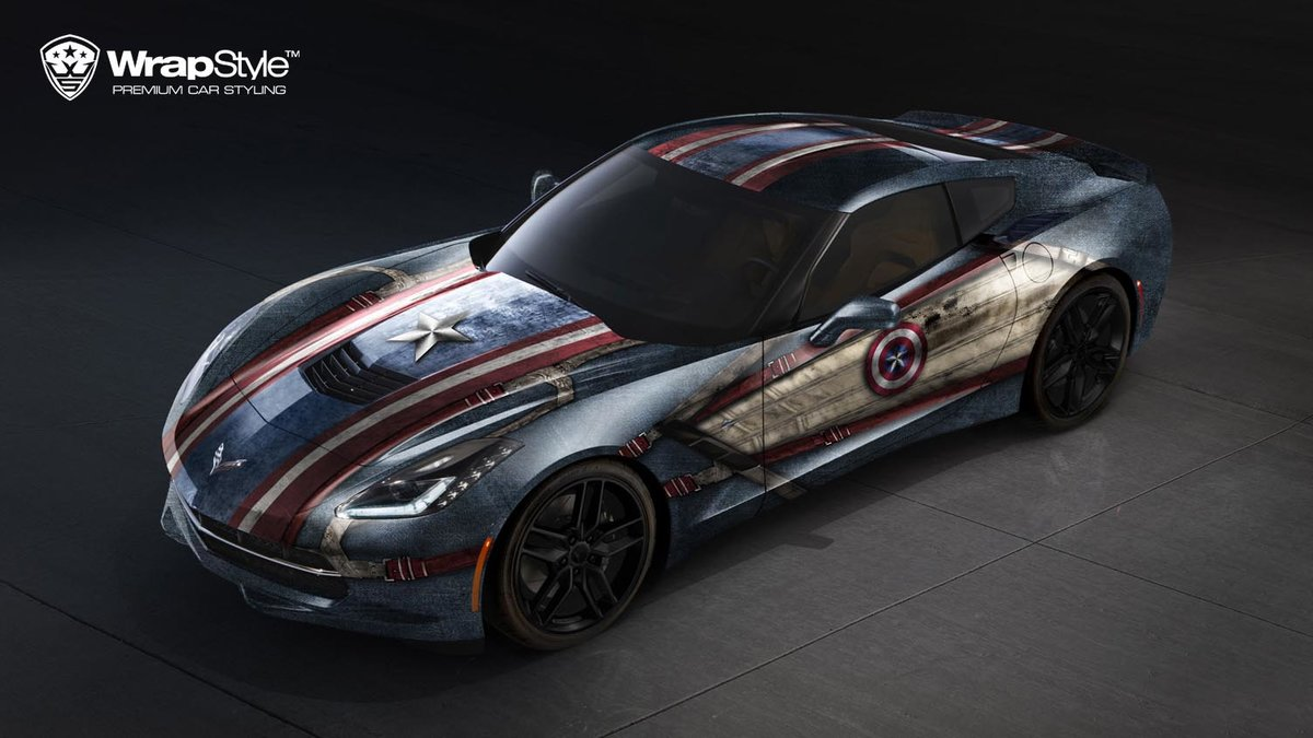 Chevrolet Corvette C7 - Captain America design - cover