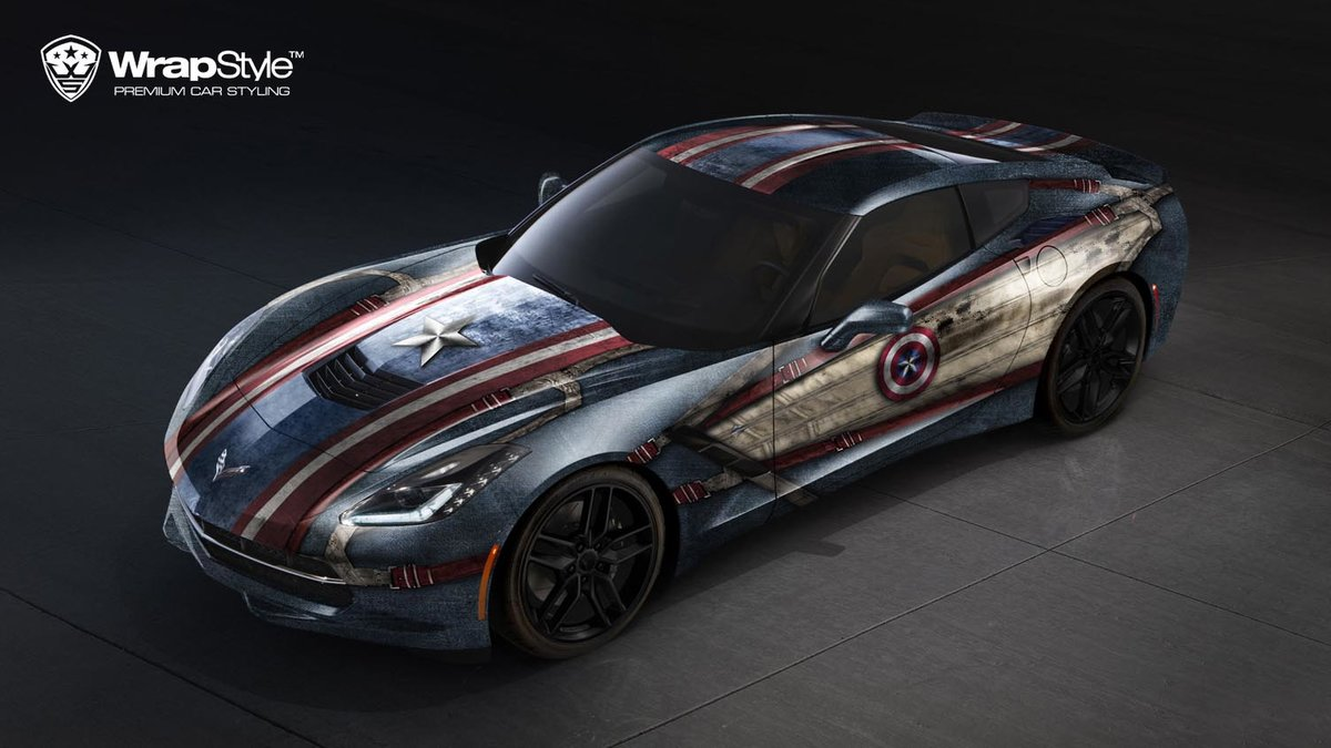 Chevrolet Corvette C7 - Captain America design - img 1