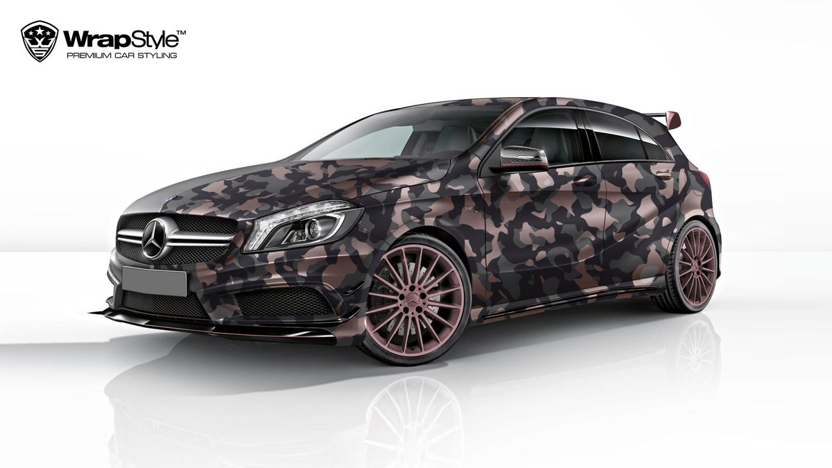 Mercedes A45 - Camo design - cover