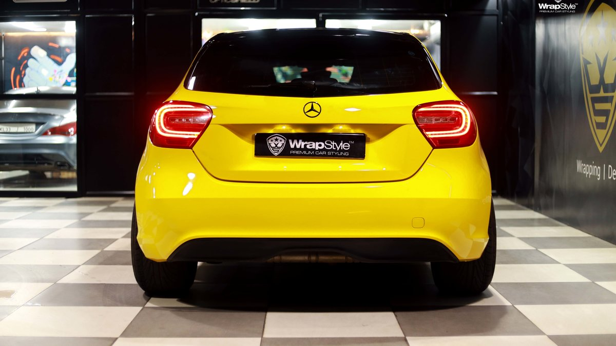 Mercedes A180 - Yellow wrap - img 2