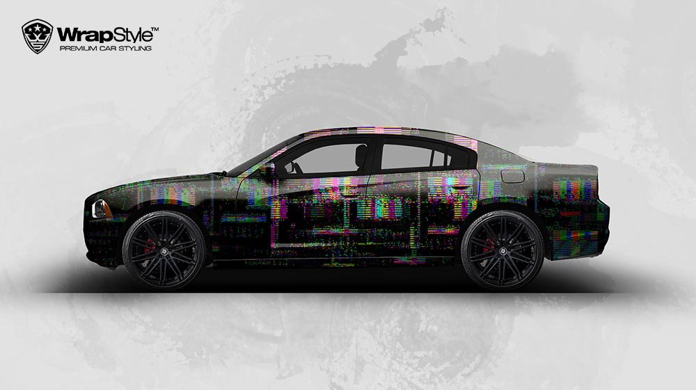 Dodge Charger - Glitch design - cover