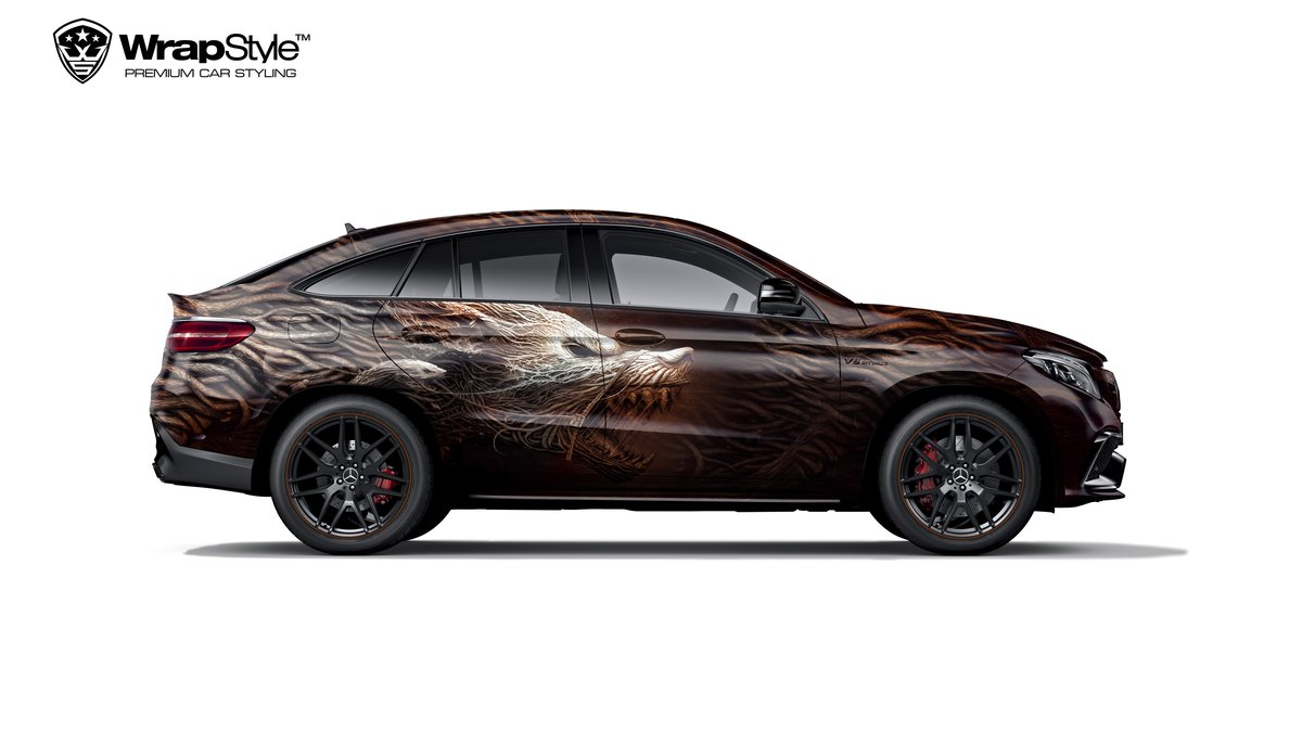 Mercedes GLE 63 - Hell dog design - cover