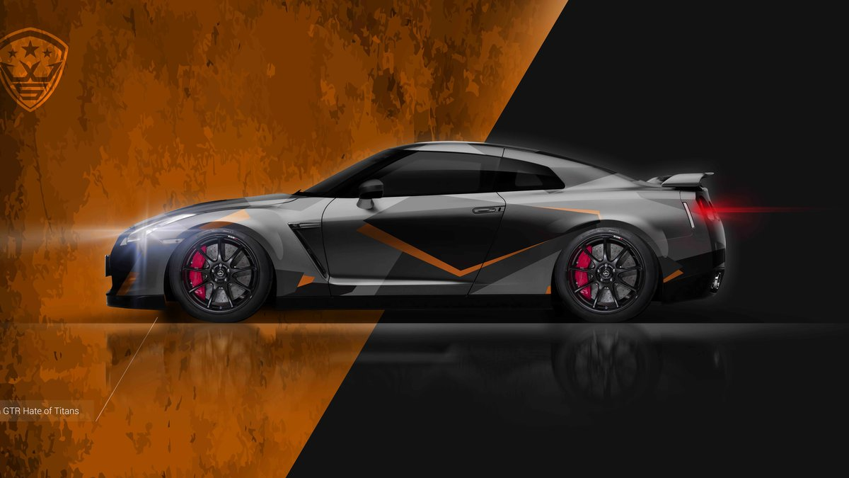 Nissan GTR - Hate Of Titans design - cover