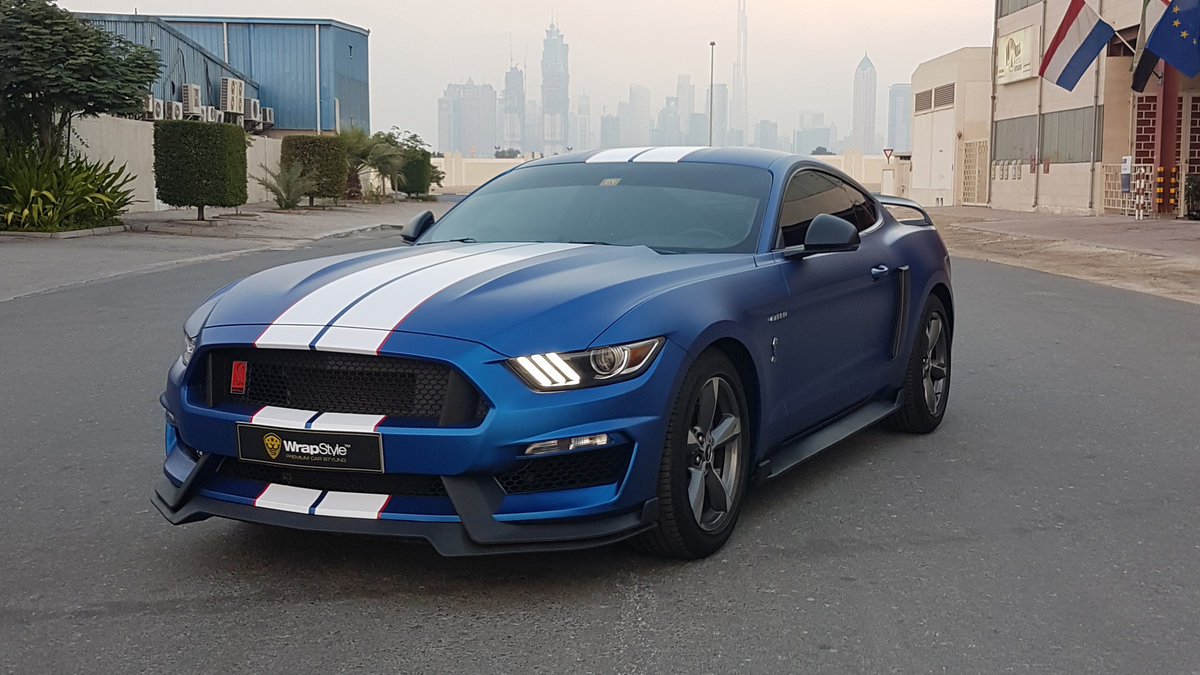 Ford Mustang - Blue Matt  wrap - img 1