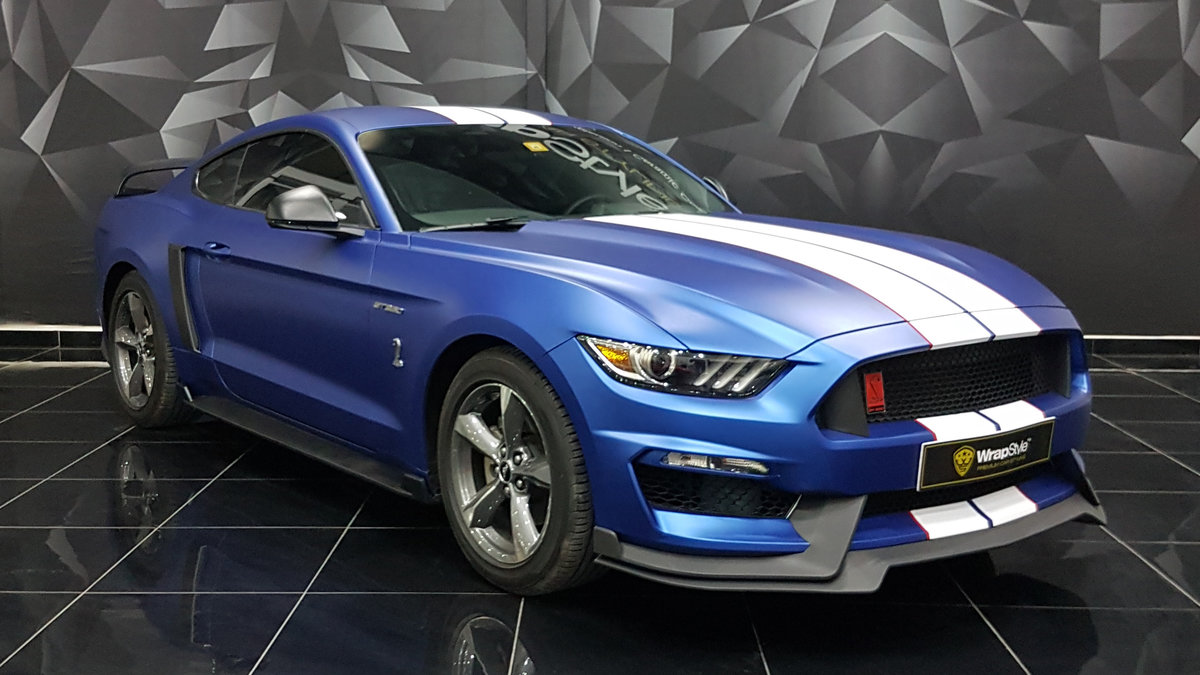 Ford Mustang - Blue Matt  wrap - img 2