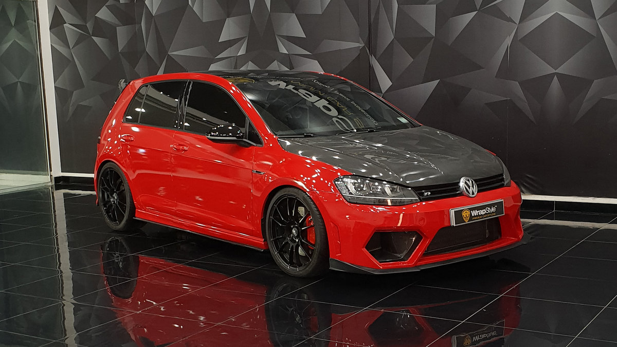 Volkswagen Golf - Red Gloss wrap - cover