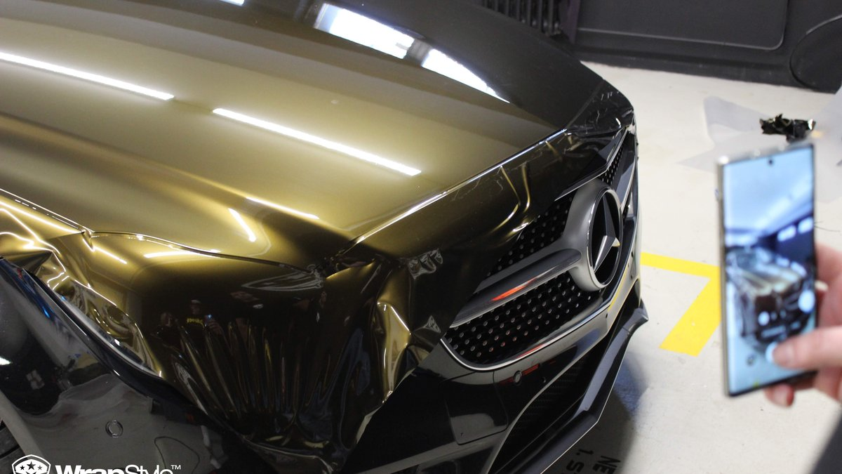 Mercedes CLS - Midnight Gold wrap - img 1