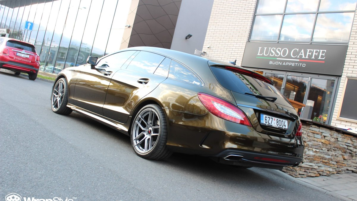 Mercedes CLS - Midnight Gold wrap - img 3
