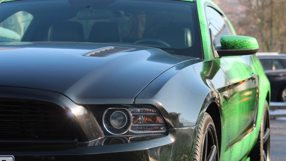 Ford Mustang - Snake Green wrap - img 2