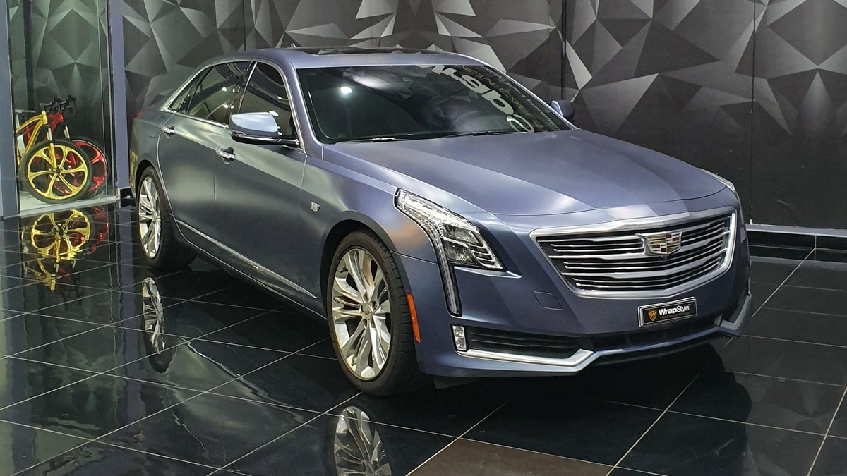Cadillac CT6 - Blue Satin wrap - cover