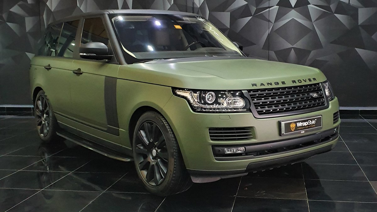 Range Rover Vogue - Green Matt wrap - cover