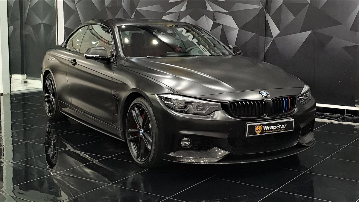 BMW 4 Coupe - Black Satin wrap - cover