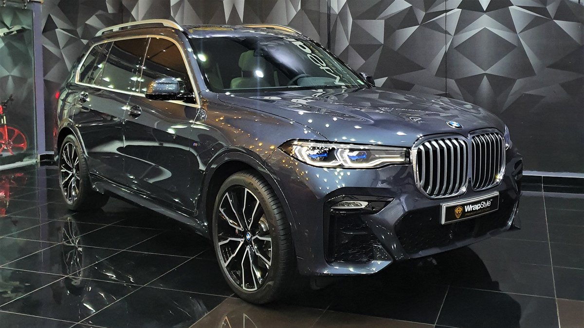 BMW X7 -  Blue Gloss wrap - cover