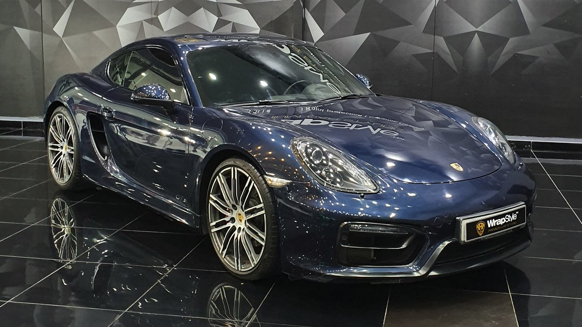 Porsche 718 - Blue Gloss wrap - cover