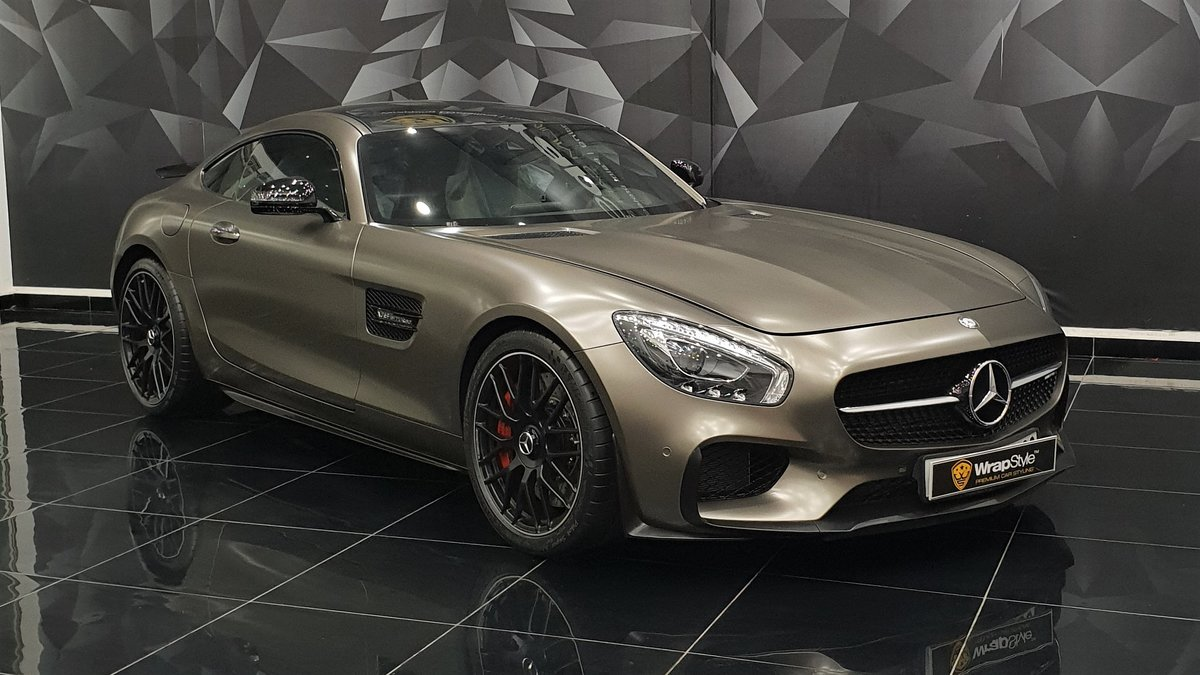 Mercedes AMG GT - Beige Satin wrap - cover