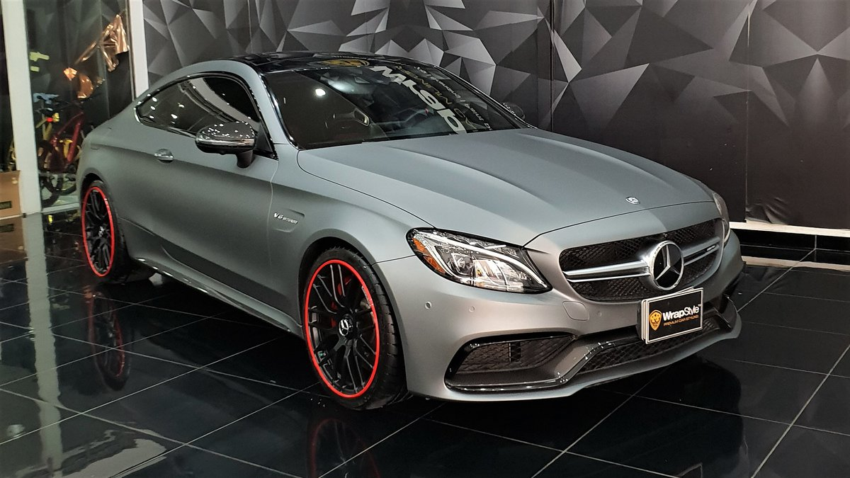 Mercedes AMG GT Coupe - Grey Matt wrap - cover