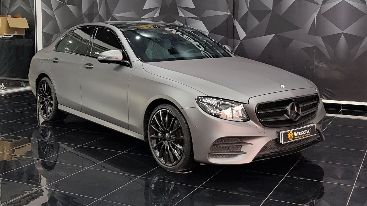 Mercedes E - Grey Matt wrap - cover