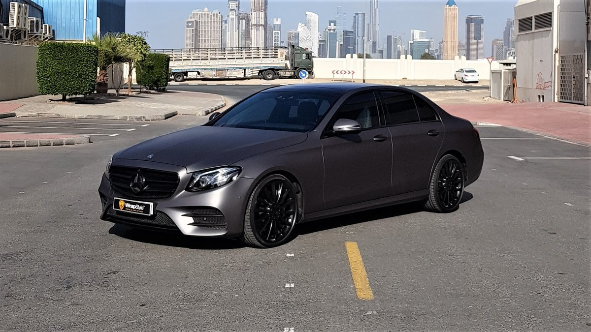 Mercedes E - Grey Matt wrap - img 1