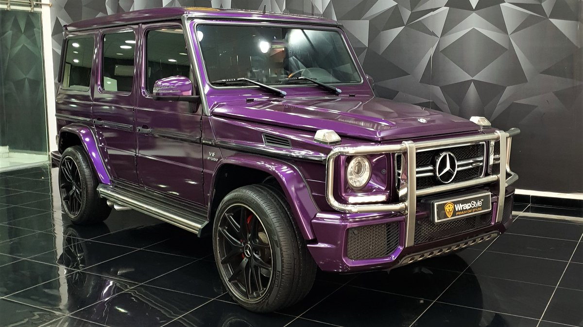 Mercedes G - Purple Gloss wrap - cover