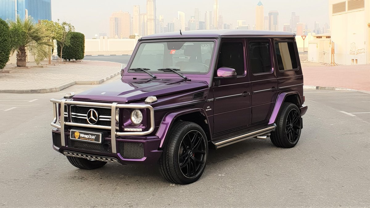 Mercedes G - Purple Gloss wrap - img 1