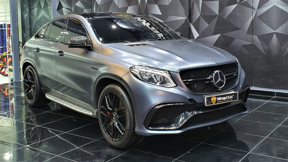Mercedes GLE - Grey Satin wrap - cover