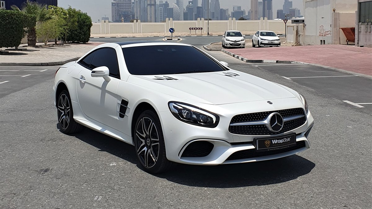 Mercedes S Cabrio - White Satin wrap - img 1