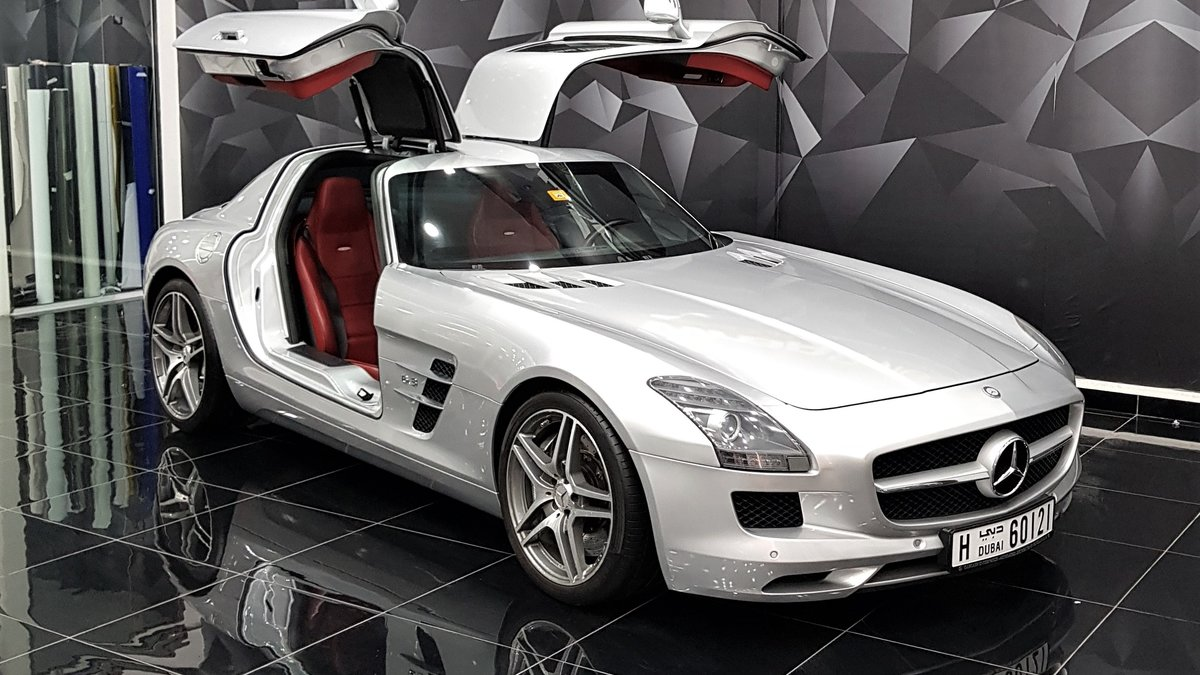 Mercedes SLS AMG GT - Silver Gloss wrap - cover