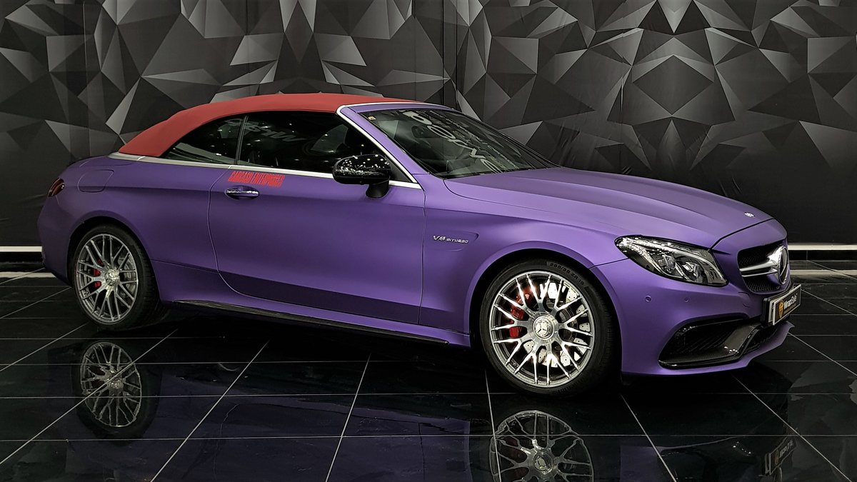 Mercedes S Cabrio - Purple Matt wrap - cover