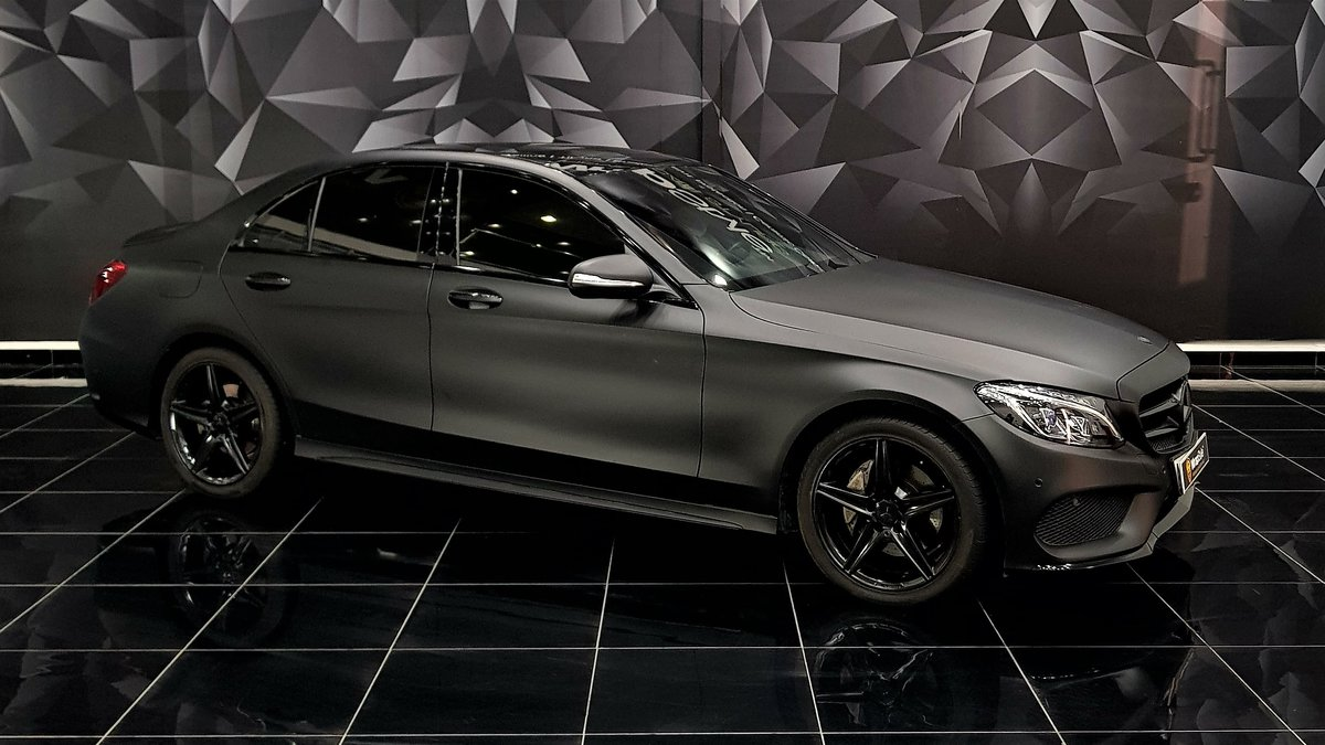 Mercedes C - Black Matt wrap - cover