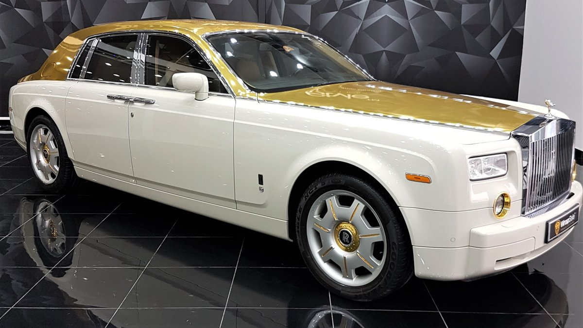 Rolls-Royce Phantom - Gold Roof wrap - cover