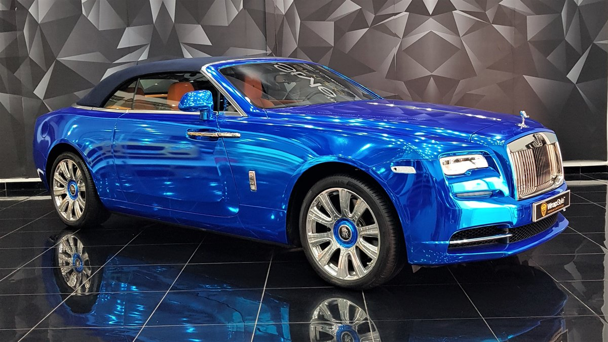 Rolls-Royce Dawn - Blue Chrome wrap - cover