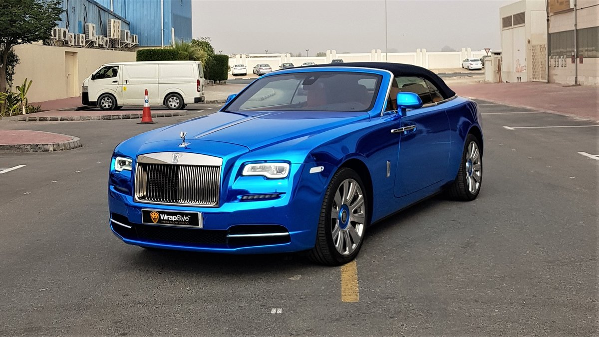 Rolls-Royce Dawn - Blue Chrome wrap - img 1